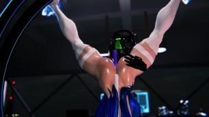Cat Girl Orgasm in the Villain Simulator